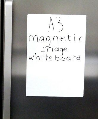 Magnetic Whiteboard Memo Notice Dry Wipe Fridge Magnet A3/A4 PLAIN
