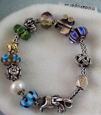 Troll Bead Anniversary Bracelet #2422 Of 5000 With Rare Gold Core Pearl
