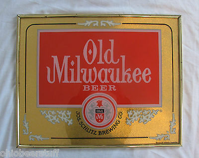Vintage Uncommon Old Milwaukee Old Mil Pub Sports Bar Glass Beer Sign Wisconsin