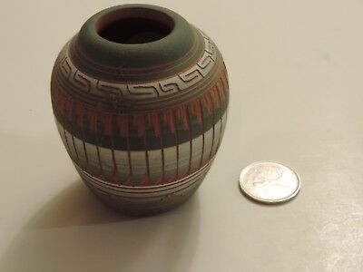 Navajo etched pottery signed Michael Charlie