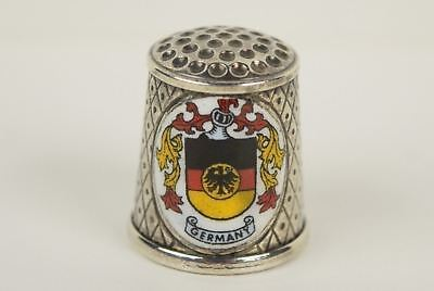Vintage Sterling Silver and Enamel Germany & Koln Dom Cologne Cathedral Thimble