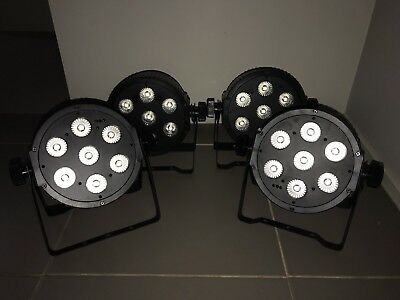8x Beamz Hex Led Par 7x18W