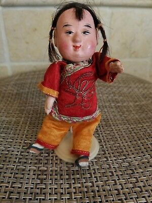 Vintage Chinese Composition Doll