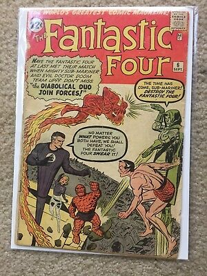 Fantastic Four #6 ComicConnect G- complete not CGC