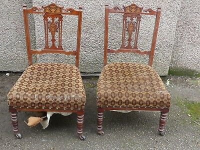 Pair Of Edwardian Chairs For Restoration