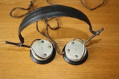 Vintage WW2 Head Phones ~ untested ~ For Display / Props