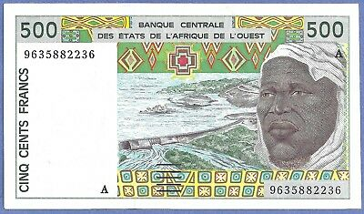 UNC West African States 500 Francs 1996 P-110A.f  82236
