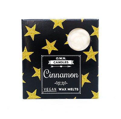 """Trendy"" Scented Wax Melts - Cinnamon - Handmade - Vegan - 4 x 2.5 Hours"
