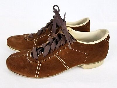 Vintage Hyde B Brown Suede Women's Bowling Shoes Size 6 to 6.5 VGC