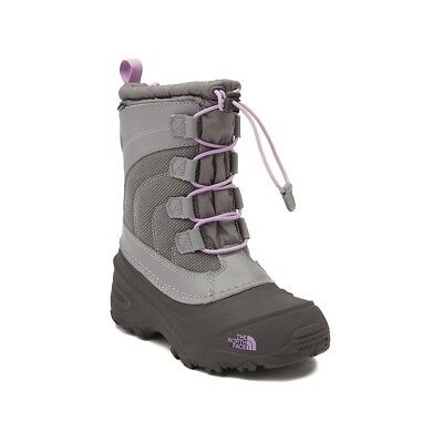 The North Face  Alpenglow IV Youth Girls Q-Slvrgy/Lupine Snow Boot  (NEW)