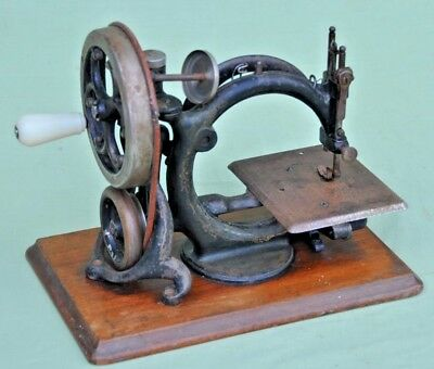 Very Rare Frister & Rossman Copy of Willcox & Gibbs Chain Stitch Sewing Machine