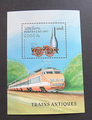 Laos 1997 Steam Railway Locomotives MS1546 MS train MNH UM unmounted mint