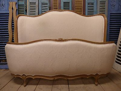 Vintage King Size French Bed - Curved Head & Foot Board - g33