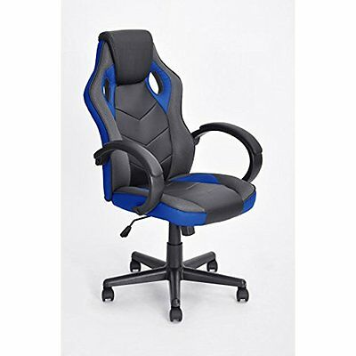 Executive Racing Kitchen & Dining Features Style Office Chair PU Leather Swivel