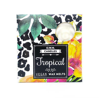 """Trendy"" Scented Wax Melts - Tropical - Handmade - Vegan - 4 x 2.5 Hours"