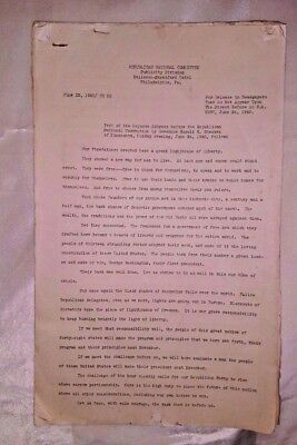 Press Release 1940 REPUBLICAN NATIONAL COMMITTEE Keynote Address Convention ORIG