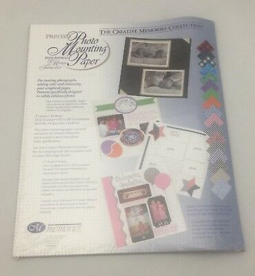 Creative Memories Photo Mounting Paper 10 X 12 Acid Free Scrapbook 34 Sheets NEW