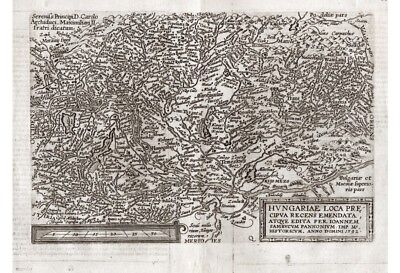 HUNGARY UNGARN KARTE MAP Matthias QUAD 1597 ORIGINAL