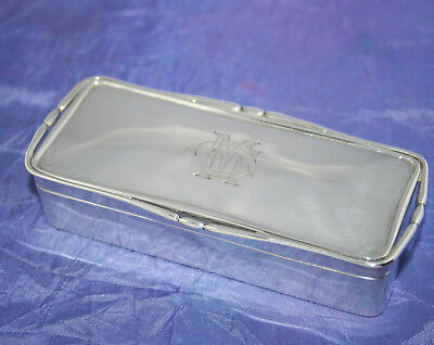 ANTIQUE ART NOUVEAU SOLID SILVER BOX 104g by SOTHERS, ORCHARD & Co~B'HAM 1907
