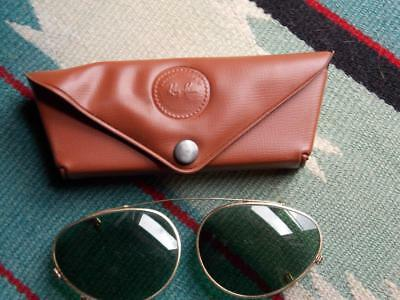Vintage Ray Ban B&L 52 Clip On Sunglasses and Case