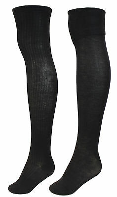 7c1b9f91a Sockaholic Women s Thigh High Over The Knee Socks with Furry Cuff Black Gray