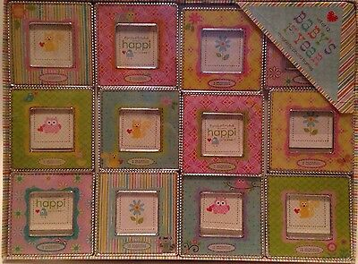 Two's Co Happi By Dena Baby's 1st Year Magnetic Photo Frames Set of 12