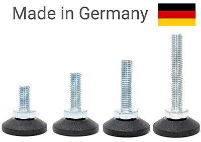 Adjustable furniture table glide levelling feet swivel threaded made in Germany