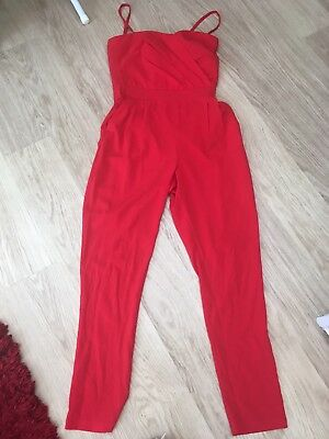 Lipsy Red Jumpsuit 10