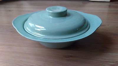 Vintage 1940s Woods Ware Utility Ware Covered Tureen Beryl Green VGC