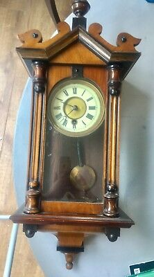 Small Victorian Wall Clock With Fabulous Casing