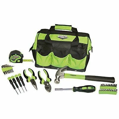 NEW 30 pc Ladies Green Tool Toolbox Set Kit Household Womens Womans Tools Home