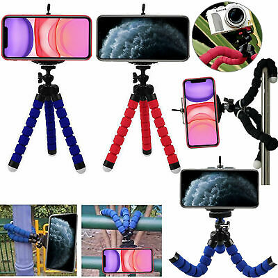 Rotatable Mini Tripod Stand + Holder For Camera Mobile Phone iPhone Samsung Sony