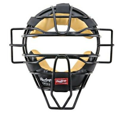 Rawlings Adult Umpire Catcher Facemask Helmet Professional Series Mask PWMX-B