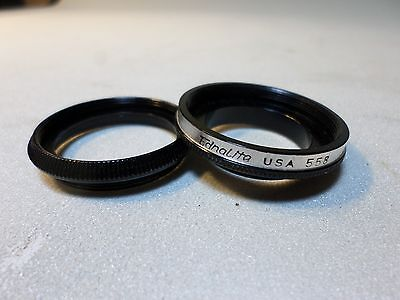 Ednalite #558 Series V or Series 5 adapter & retaining ring w 26.9mm threads