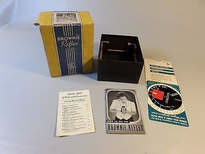 Kodak Brownie Reflex Camera  box price list manual and exposure guide