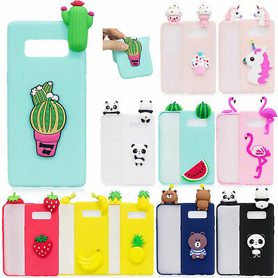 3D Cute Animals Cartoon Soft Silicone Case Cover For Samsung S10+/S9/S8/Note 9