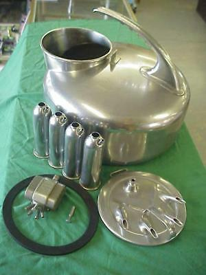Stainless Steel Surge Milker Machine Dairy Cow, Sheep, Goat Milk Bucket & 4 Teat