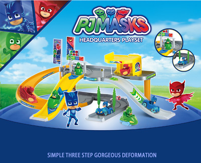 New PJ Masks Headquarters Playset Childrens TV Charactor Peripherals Anime Toys
