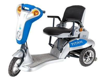 Titan 3 Mobility Scooter in blue, red