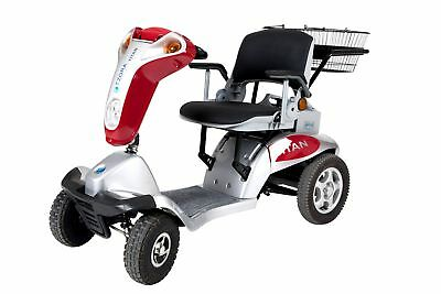 Titan 4 Mobility Scooter in blue, red