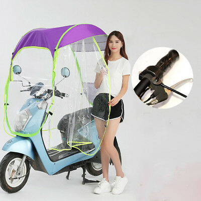 New Universal Car Motor Scooter Umbrella Safe Mobility Rain Sun Shade Cover