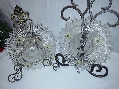 3 Chain HANGING GLASS CEILING LIGHT COVER SUNBURST SNOWFLAKE Replacement Shade