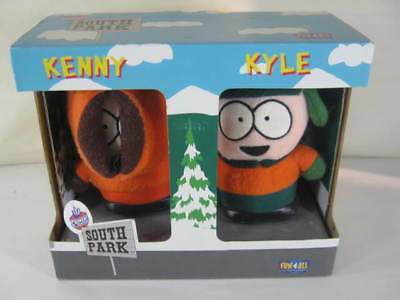 1998 Set of Kenny and Kyle South Park Dolls New In Box by Fun 4 All