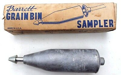Vintage Grain Bin Sampler Tool with Box Deshler Implement Co.