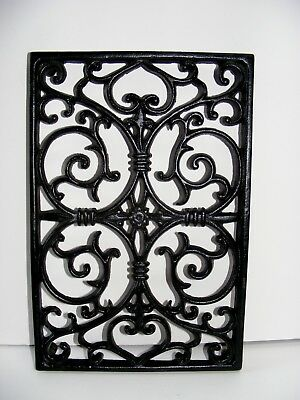 Victorian Ornate Cast Iron Heat Register Floor Grate-REPRODUCTION?  w/ hangers