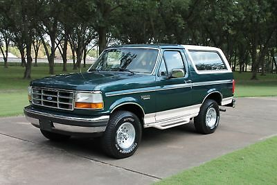 1992 Ford Bronco Eddie Bauer 4WD 2 Owner Perfect Carfax Collectors Grade Extremly Rare Find