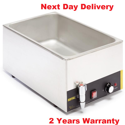 Buffalo 1/1 Wet Heat Bain Marie with Tap without Pans @ Free Next Day Delivery