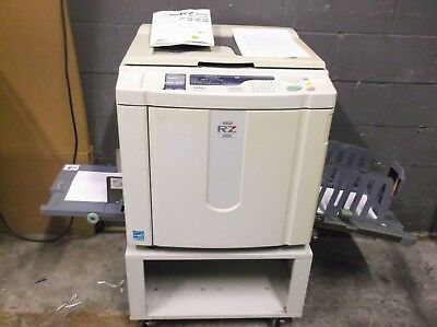 Riso RZ220 High Speed Digital Duplicator MAKING EXCELLENT PRINTS Low Meter