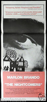 THE NIGHTCOMERS 1971 Marlon Brando HORROR Original daybill Movie Poster