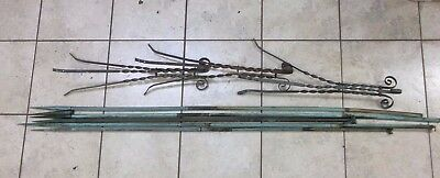 5 Antique Lightning Rods With Toppers And 3 Stands